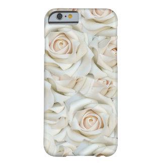 Funda de móvil con flores blancas de rosa