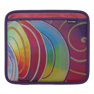 Funda iPad Pintura espiral fluo Camaret Funda Para iPads