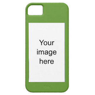 Funda iPhone verde de encargo plantilla en blanco iPhone 5 Funda