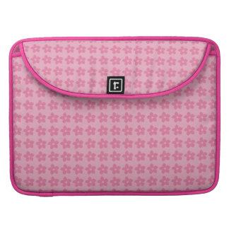 Funda Macbook con flores juveniles y fondo  rosa Funda Para Macbooks