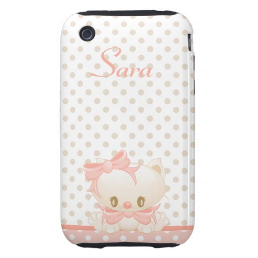 Funda-MateTough del iPhone 3G-3GS del gatito Tough iPhone 3 Protector