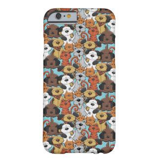 Funda mono de móvil con perros y gatos funda de iPhone 6 barely there