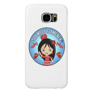 Funda Movil Soy Muy Flamenca Morena y Traje Rojo Fundas Samsung Galaxy S6