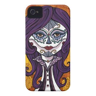 Funda-naranja de Dia de los Muertos iphone4 Case-Mate iPhone 4 Fundas