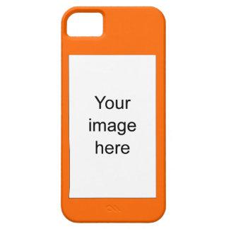 Funda naranja de encargo de plantilla en blanco iPhone 5 carcasas