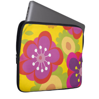 Funda portatil para elctrónicos Full Color Flowers Funda Computadora
