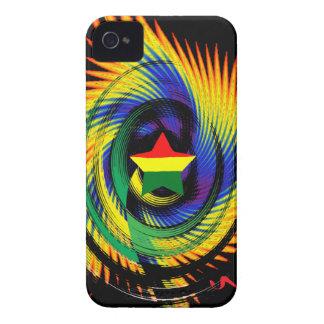 Funda protectora de Jamaica Rasta Blackberry Case-Mate iPhone 4 Fundas