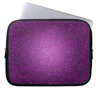 Funda protectora púrpura del Glitz del disco de la Mangas Computadora