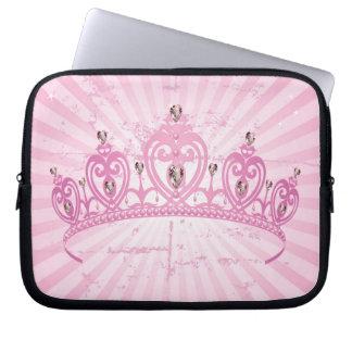 Funda protectora rosada de princesa Crown Laptop S Fundas Computadoras