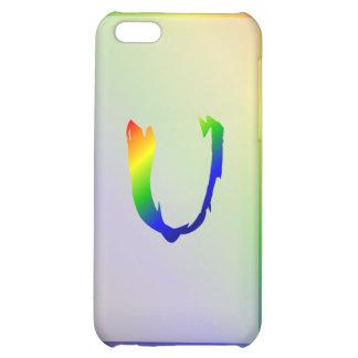 Funda-U del iPhone 5 del monograma del arco iris