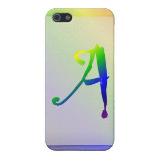 Funda-UNo del iPhone 5 del monograma del arco iris iPhone 5 Funda