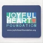 Fundación alegre Mousepad del corazón Alfombrillas De Ratones