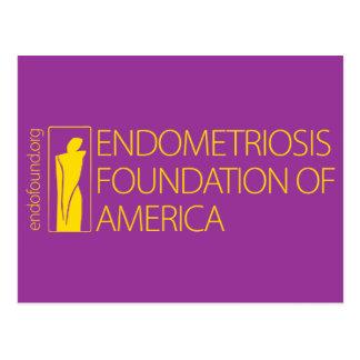 Fundación de la endometriosis de América Tarjetas Postales