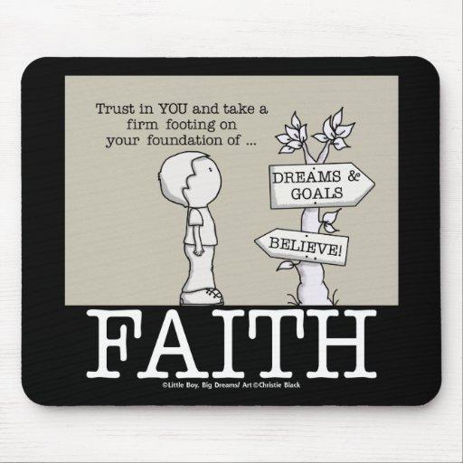 Fundación de la fe mousepads