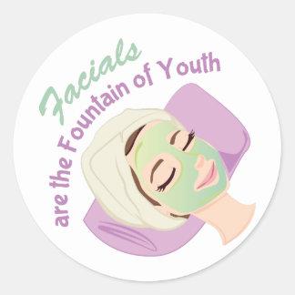 Fundación de la juventud pegatina redonda
