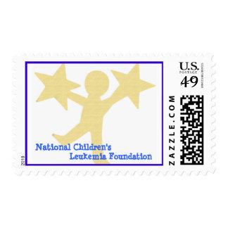 Fundación de la leucemia de los niños nacionales sellos
