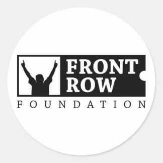Fundación de la primera fila - logotipo pegatina redonda