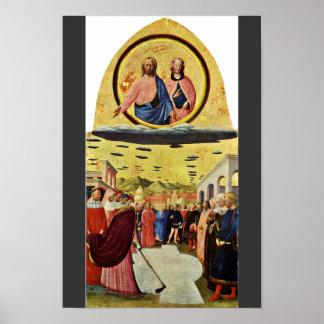 Fundación de Santa María Maggiore por Masolino (se Posters