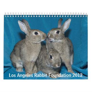 Fundación del conejo de Los Ángeles - 2012 Calendario De Pared