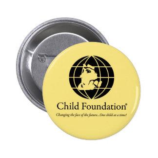 Fundación del niño pin redondo de 2 pulgadas