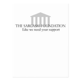 Fundación del sarcasmo postales