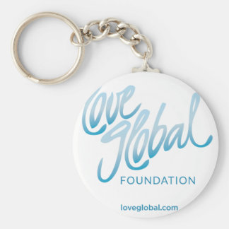 Fundación global del amor llavero redondo tipo pin