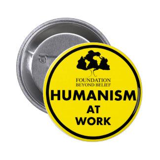 Fundación más allá del humanismo de la creencia en pin redondo de 2 pulgadas