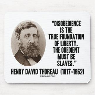 Fundación verdadera de la desobediencia de Thoreau Alfombrillas De Ratones
