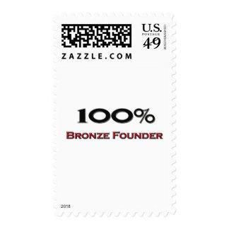 Fundador de bronce del 100 por ciento envio