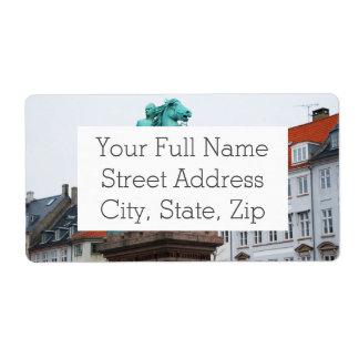 Fundador de Copenhague Absalon - Højbro Plads Etiquetas De Envío