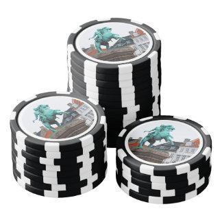 Fundador de Copenhague Absalon - Højbro Plads Fichas De Póquer