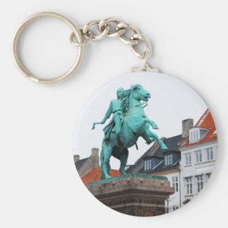 Fundador de Copenhague Absalon - Højbro Plads Llavero Redondo Tipo Pin