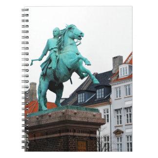 Fundador de Copenhague Absalon - Højbro Plads Spiral Notebook