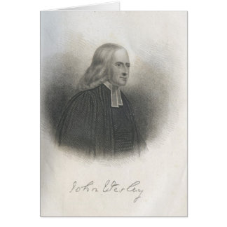 Fundador del Methodist de John Wesley Tarjeta De Felicitación