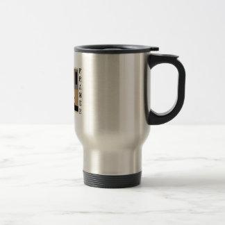 Fundador total taza de viaje de acero inoxidable