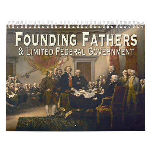 Fundadores y citas limitadas del gobierno calendarios de pared