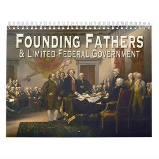 Fundadores y citas limitadas del gobierno calendario de pared