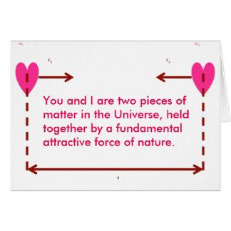 fundamental attraction nerdy funny valentine card