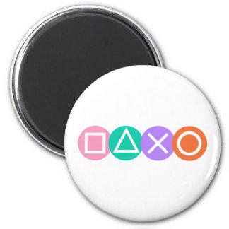 Fundamental Game Symbols 2 Inch Round Magnet