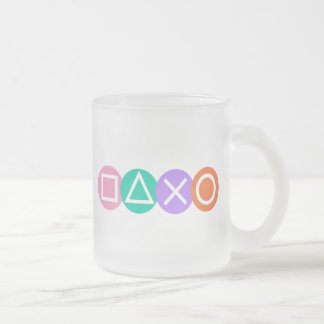 Fundamental Game Symbols Frosted Glass Coffee Mug