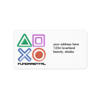 Fundamental Game Symbols Label