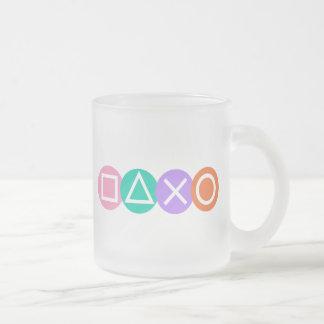 Fundamental Game Symbols 10 Oz Frosted Glass Coffee Mug