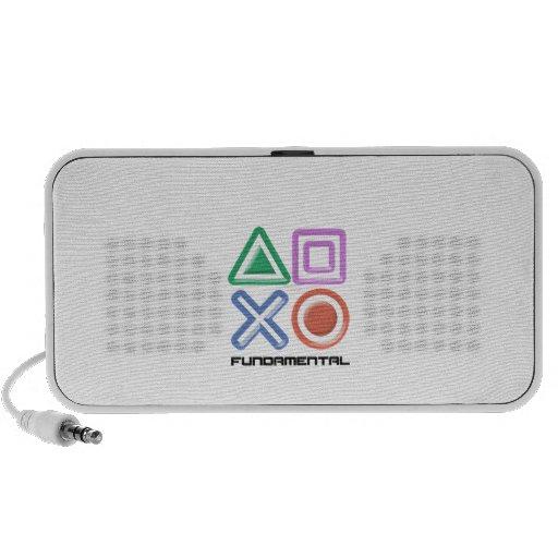 Fundamental Game Symbols Portable Speaker