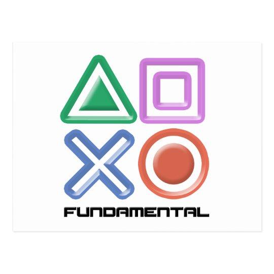 Fundamental Game Symbols Postcard