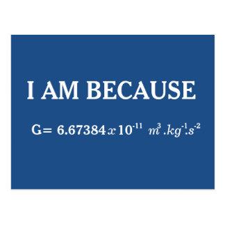 Fundamental Physical Gravitation Constant Postcard