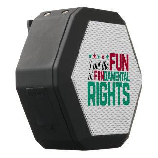 FUNdamental Rights Black Bluetooth Speaker