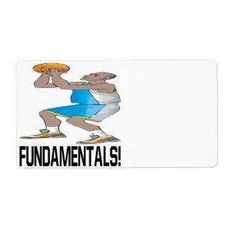 Fundamentales Etiqueta De Envío