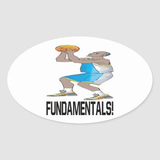Fundamentales Pegatina Ovaladas Personalizadas