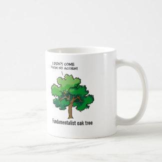 Fundamentalist Oak Tree Cartoon Classic White Coffee Mug
