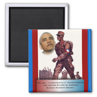 Fundamentally Transforming America 2 Inch Square Magnet
